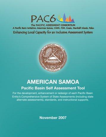 American Samoa Self Assessment and Jurisdiction Plan - PAC6