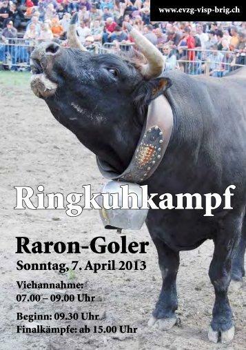 Broschüre Ringkuhkampf 7.4.2013 - evzg-visp-brig.ch