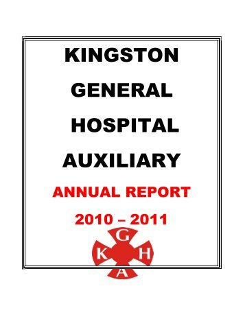 Auxiliary Annual Report - Kingston General Hospital