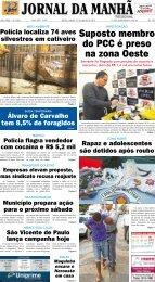 Suposto membro do PCC é preso na zona Oeste - Jornal da Manhã