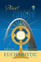 2011 Eucharistic Congress - Holy Card - Archdiocese of St. Louis