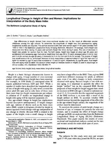 Age (years) - American Journal of Epidemiology