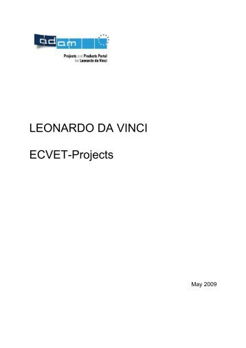 LEONARDO DA VINCI ECVET-Projects - ECVET Pilot Projects