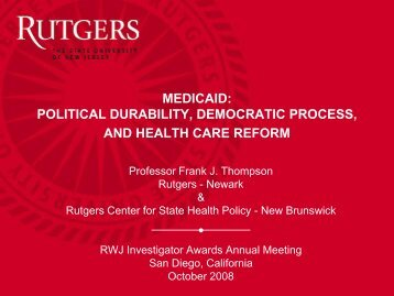 7960 - Center for State Health Policy, Rutgers University