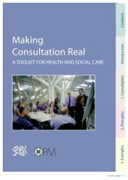 Making Consultation Real - Health in Wales
