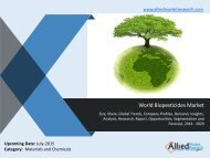 World Biopesticides Market Analysis, Trends, Demand, Opportunities and Forecasts 2014 -2020