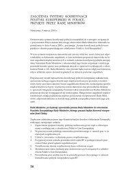 za£o¯enia systemu koordynacji polityki europejskiej w polsce ...