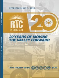 July 2013 Transit Guide - Regional Transportation Commission of ...