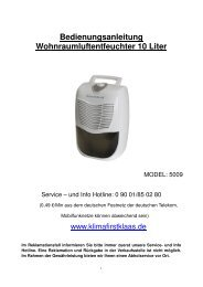 Bedienungsanleitung 5009 - Klaas Direktimport GmbH