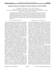 Quantum-Classical Correspondence in the Wave Functions of ...
