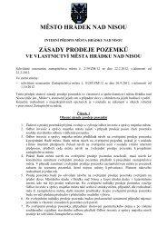 Zásady prodeje pozemků ve vlastnictví Města ... - Hrádek nad Nisou