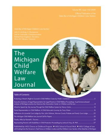 The Michigan Child Welfare Law Journal - Chance at Childhood ...