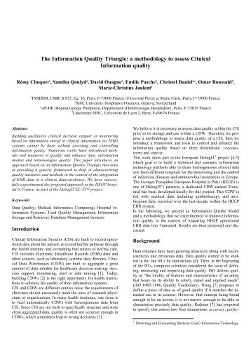 The Information Quality Triangle: a methodology to assess ... - Debugit