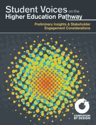 Student Voices on the Higher Education Pathway - Public Agenda