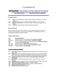 E. Lisa Panayotidis, PhD University Address: Faculty of Education ...