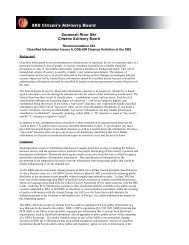 Classified Information Issues In DOE-EM Cleanup ... - SRS CAB