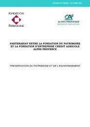 La Fondation du Patrimoine et la commune - Crédit Agricole Alpes ...