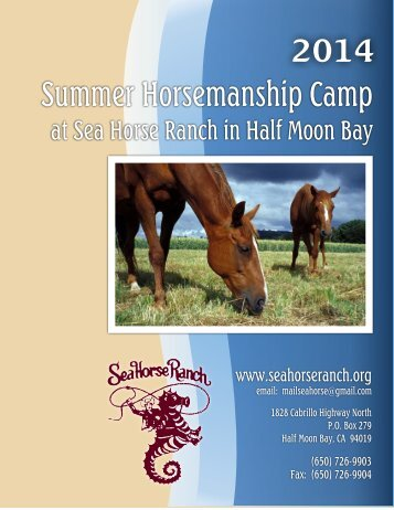 the Summer Camp Brochure and Application - Sea Horse Ranch