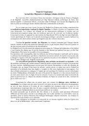 Proposition cible en vue d'un communiqué ( version 1) - Église ...