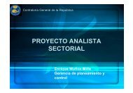 El Proyecto analista sectorial en Perú (1 MB)