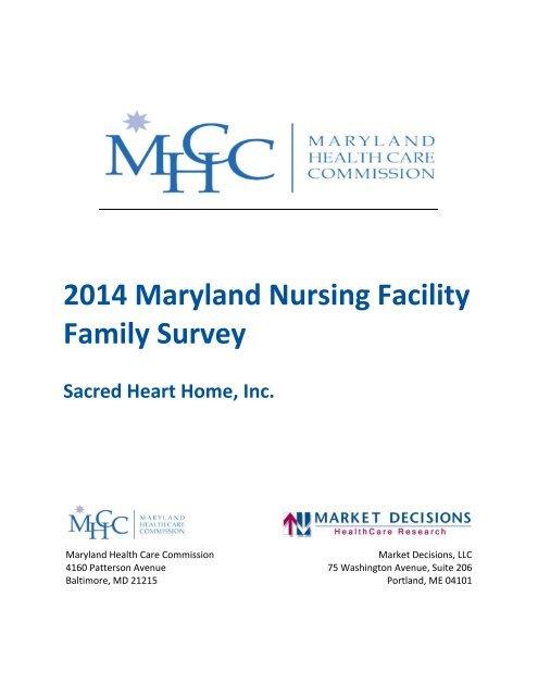 Sacred Heart Nursing Home >> 2013 Maryland Nursing Facility Family Survey Sacred Heart Home