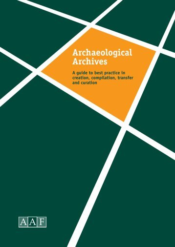 Archaeological Archives - Council for British Archaeology