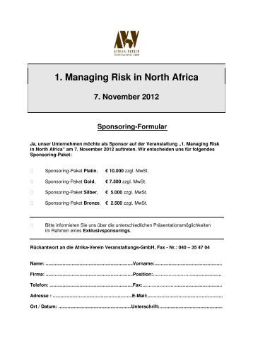 Sponsoring Formular 2. RIA 2012 und 1.RINA 2013