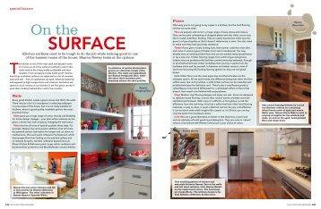 View kitchen surfaces feature - Resene
