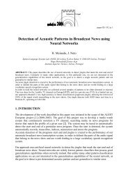 Detection of Acoustic Patterns in Broadcast News using ... - INESC-ID