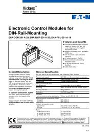 Electronic Control Modules for DIN-Rail-Mounting - Vickers