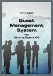 Guest Management System - Adria Scan