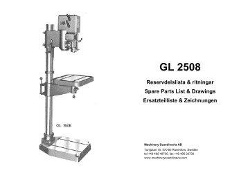 drill press parts. parts manual for arboga gl2508 drill presses - hh roberts machinery press