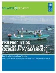 fish production cooperative societies of cozumel ... - Equator Initiative