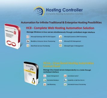 Hosting Controller Catalogue