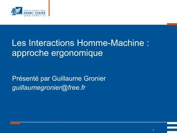 travail - Guillaume Gronier