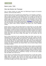 Martin Luther, 1539 Über das Studium der ... - maartenluther.info