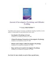 Journal of Investigative Psychology and Offender Profiling - Wiley