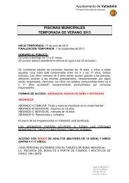 PISCINAS MUNICIPALES TEMPORADA DE VERANO 2013 - FMD ...