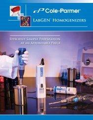 LabGEN™ Homogenizers - Cole-Parmer