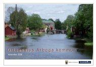 Ortsanalys 2006 - Arboga kommun