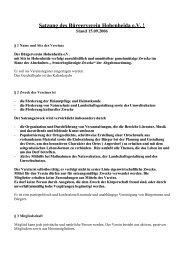 Satzung des Bürgerverein Hohenheida e.V. !