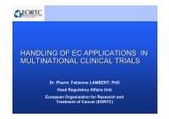 handling of ec applications in multinational clinical trials - European ...