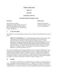 ABSC 931 - Association for Behavior Analysis International