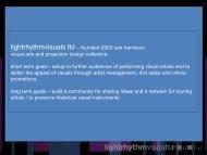 lightrhythmvisuals ltd – founded 2003 san francisco visual arts and ...