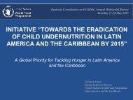 towards the eradication of child undernutrition in latin ... - BVSDE