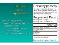 Supplements and Herbs (KCK from own)