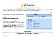 Einrichtung eines E-Mail Kontos iPhone / iPad (iOS) - Alfahosting