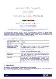 KEPLER Vorsorge Mixfonds VVKP 31.03.09 - boerse-live.at