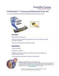 FS1036 Spirit ™ Flying Lead Differential Probe Set - FuturePlus ...