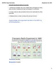 Francesco Redi's Experiment in 1668 - nnhsbergbio